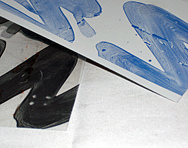 "Posi-Blue positive lithographic plate, 31.5"" x 40"" x 0.012"" - (Sold in 40 Plate Packages Only)"
